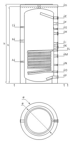 Теплоаккумуляторы Ecosystem с одним теплообменником