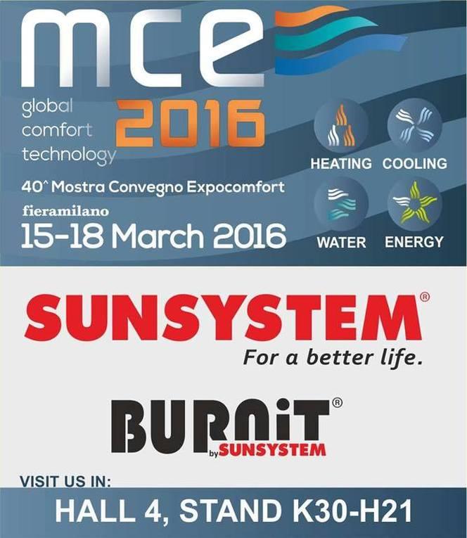 Sunsystem на выставке MCE 2016